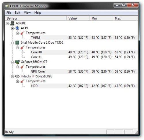 Как измерить температуру ноутбука?
