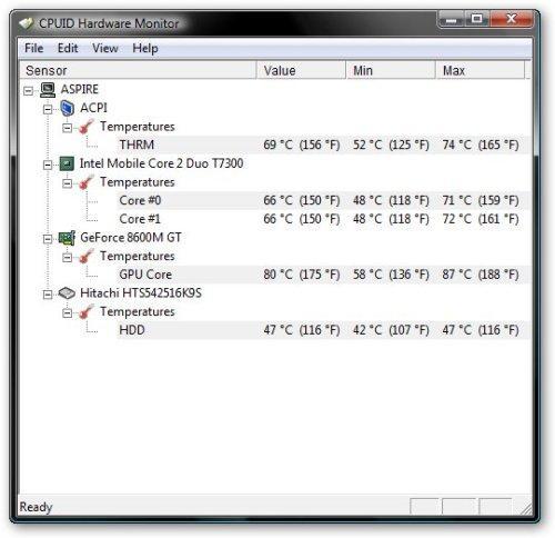 Программа для проверки температуры ноутбука