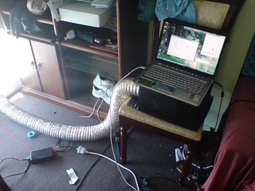 охладить ноутбук