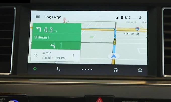 Навигация в Android Auto