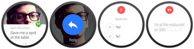 Сообщения на Android Wear
