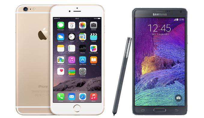 Galaxy Note 4 или iPhone 6 Plus