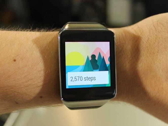 Функция фитнес в Samsung Gear Live