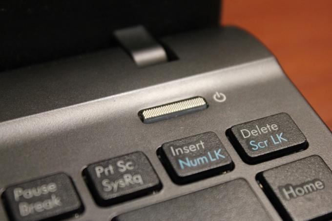 Кнопка включения ноутбука