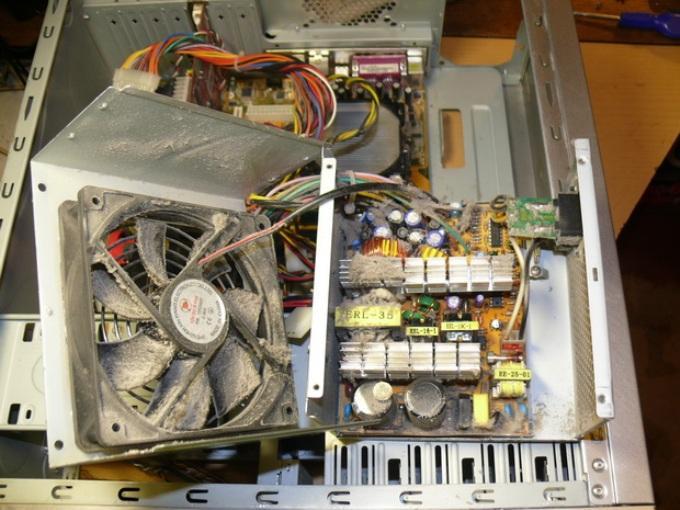 Шумит блок питания компьютера