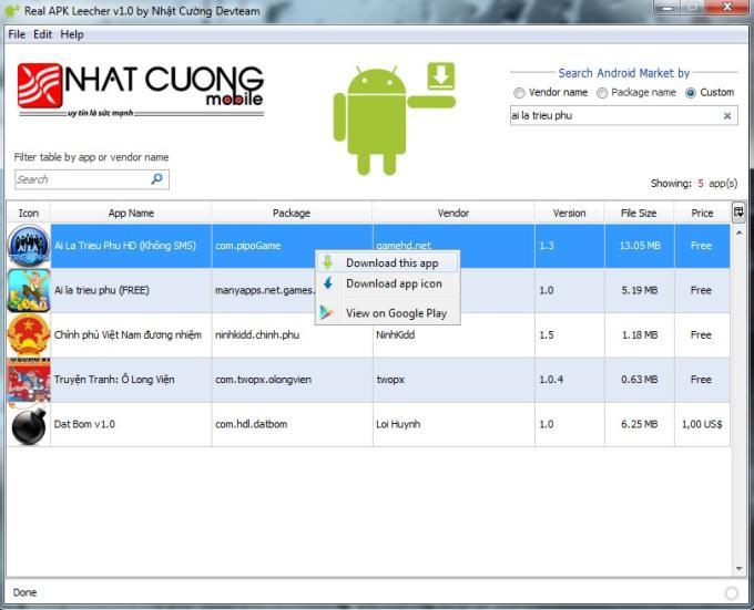 Скачать программы с Google Play Market