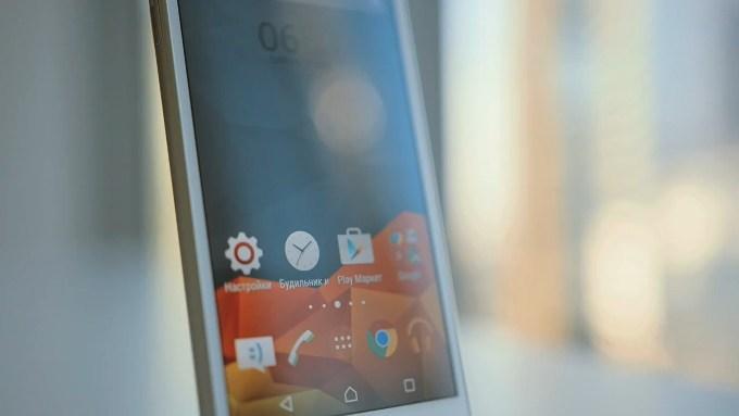 Дизайн ОС Sony Xperia M4 Aqua