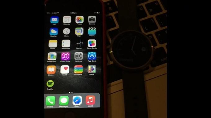 Первый опыт сопряжения iOS с Android Wear