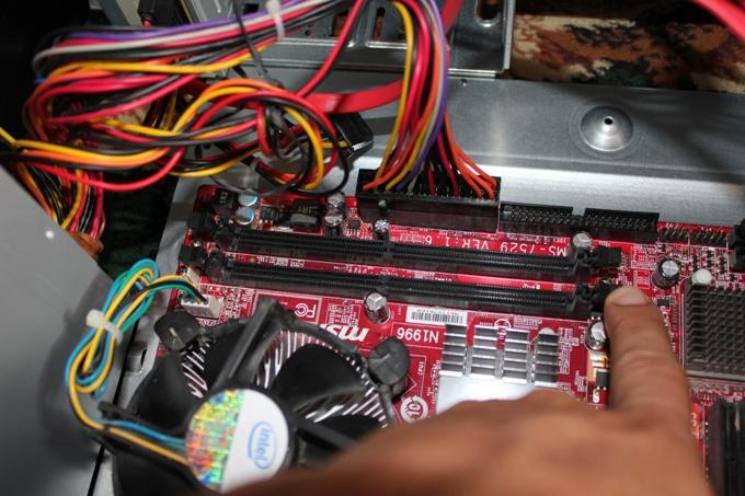 Место установки оперативной памяти