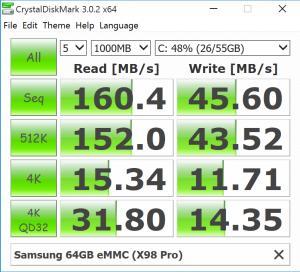 Тест скорости памяти на X98 Pro