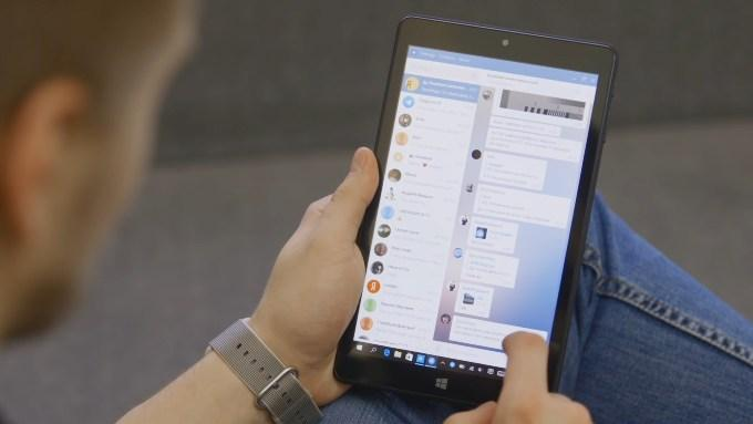 Telegram на планшете