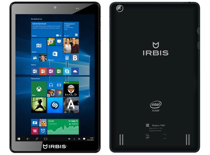 Windows планшет Irbis TW81