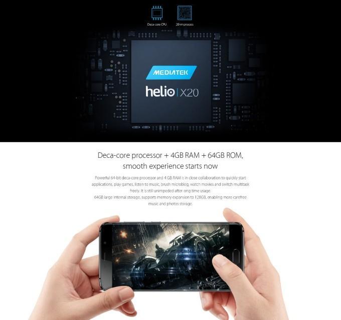 Процессор 64 бита Helio X20 в elephone s7