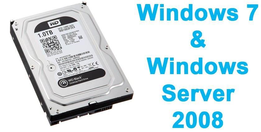 Ошибка 0x0000007a в Windows 7, Windows Server 2008 и жесткий диск объемом 1Тб и более