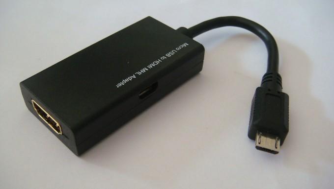 USB (MHL кабель) для подключения планшета к телевизору