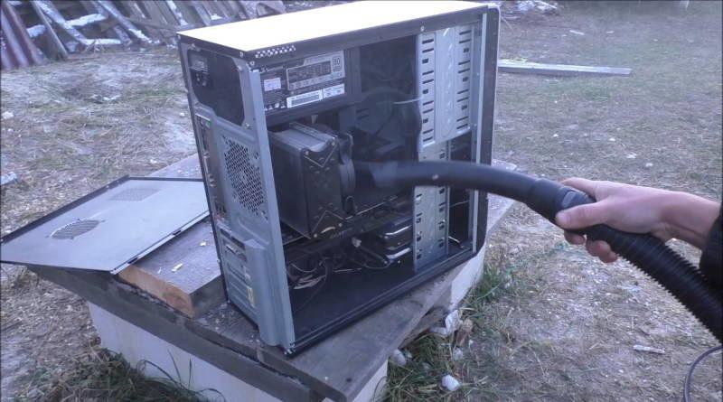 Чистка компьютера от пыли пылесосом